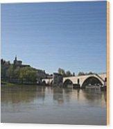 Avignon - Pont Saint Benezet Wood Print