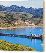 Avila Beach California Fishing Pier Wood Print