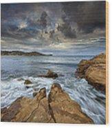 Avoca Beach Wood Print by Steve Caldwell
