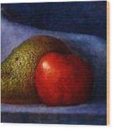 Avocado And Tomato Wood Print