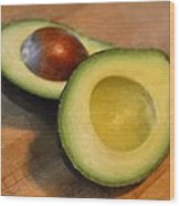 Avocado Wood Print by Michelle Calkins
