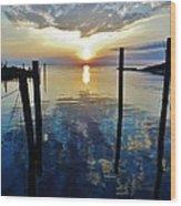 Avon Harbor Sunset Reflections 7/26 Wood Print