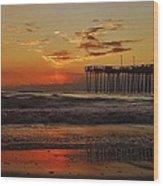 Avon Pier Hatteras Sunrise 1 1/15 Wood Print
