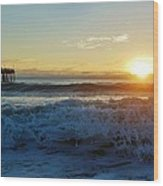 Avon Pier Sunrise 6 10/17 Wood Print