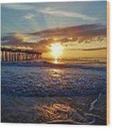 Avon Pier Surfers Paradise 9/08 Wood Print