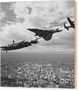Avro Birds - Mono  Wood Print