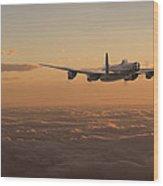 Avro Lancaster - Homeward Wood Print