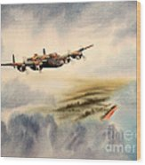 Avro Lancaster Over England Wood Print