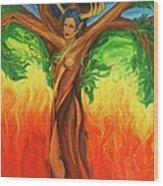 Awakening The Chakra Tree Wood Print