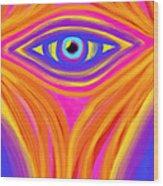 Awakening The Desert Eye Wood Print