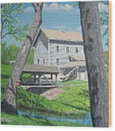 Award-winning Painting Of Beckman's Mill Wood Print by Norm Starks