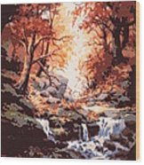 Awsom  Wood Print by W  Scott Fenton
