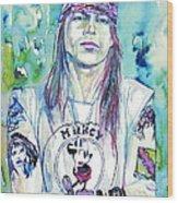 Axl Rose Portrait.1 Wood Print