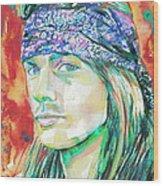 Axl Rose Portrait.2 Wood Print
