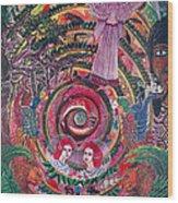 Aya Muyuywairu Tornado Espiritual Wood Print