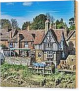 Aylesford Village Wood Print
