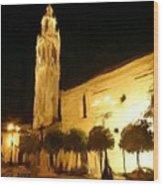 Ayuntamiento Por La Noche Wood Print