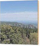 Az From 8000 Feet Wood Print