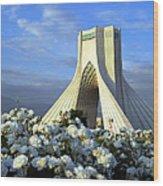 Azadi Tower In Tehran Wood Print