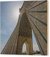 Azadi Tower  Tehran  Iran Wood Print