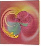 Azalea Abstract Wood Print