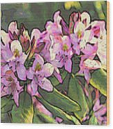 Azalea Art Wood Print