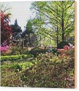 Azalea Garden Wood Print