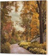 Azalea Garden In Autumn Wood Print