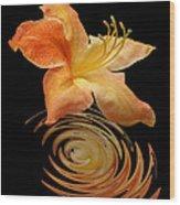 Azalea Ripples Vertical Wood Print