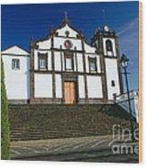 Azorean Church Wood Print