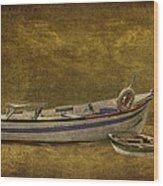 Azorean Fishing Boats Wood Print