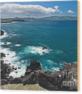 Azores Islands Ocean Wood Print