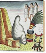 Aztec Burial Ritual Wood Print