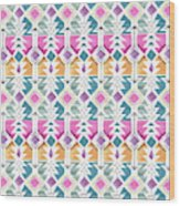Aztec Inspired Arrow And Geometric Pattern One.jpg Wood Print