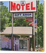Aztec Motel -  Seligman Wood Print