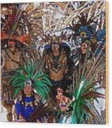 Aztec Performers O'odham Tash Casa Grande Arizona 2006  Wood Print