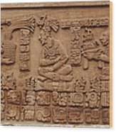 Aztec Woodcarving Tablets Wood Print