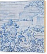 Azulejos Traditional Tiles In Porto Portugal Wood Print