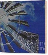 Azure Sky  Wood Print