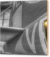 B-17 Bomber Tail Wood Print