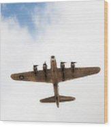 B-17 Flyover Wood Print