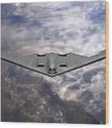 B-2 Stealth Bomber Wood Print