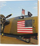 B-24 Bomber - Diamond Lil Wood Print
