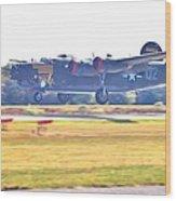B-24 Landing Wood Print