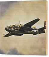 B-25 Georgie's Gal Wood Print by Peter Chilelli