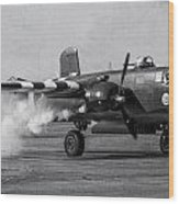 B-25 Mitchell Mk IIi Powers Up Wood Print