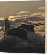 B-25 Sunset Wood Print