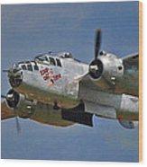 B-25 Take-off Time 3748 Wood Print