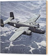 B-25 World War II Era Bomber - 1942 Wood Print