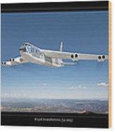 B-52b Stratofortress Wood Print